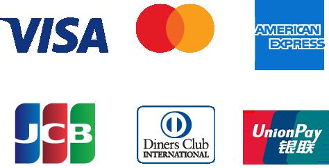 ご利用可能なクレジットカードの画像 詳しくは添付画像